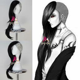 $enCountryForm.capitalKeyWord Australia - Details about Tokyo Ghoul Uta Mask Maker Wig Long Wavy Black n Silvery Grey Anime Cosplay Wig