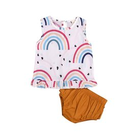 $enCountryForm.capitalKeyWord Australia - 2019 INS girls outfits kids boutique clothing baby floral tops Round collar t shirt PP short two pieces sets cute childrens clothes BY0826