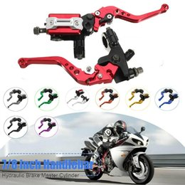 reservoir motorcycle UK - Hot New Motorcycle 7 8 CNC Front Brake Hydraulic Clutch Master Cylinder Lever Set Reservoir