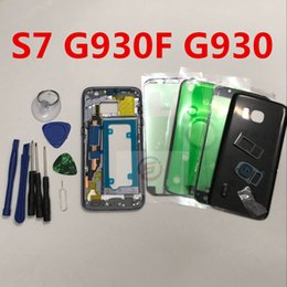 complete housing 2019 - Full Housing Case Back Cover + Front Screen Glass Lens + Middle Frame For Samsung Galaxy S7 G930F G930 Complete Parts ch