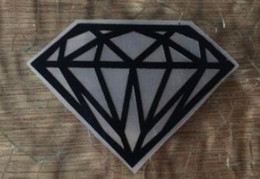 Diamond T Shirts Wholesale Australia - Wholesale Heat Transfer Diamond Iron On Patches DIY Clothes T-shirt Brand Logo Patch Applied shose