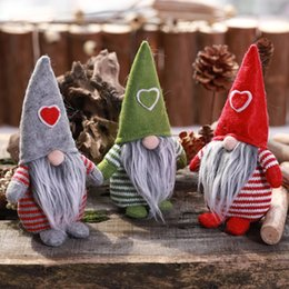 $enCountryForm.capitalKeyWord NZ - 2019 New Non-Woven Hat With Heart Handmade Gnome Santa Christmas Figurines Ornament Holiday Table Decor Festive Present