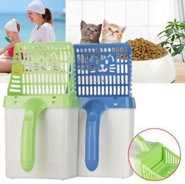 Wholesale Products Australia - Cat Litter Shovel Quick Easy Pet Cleaning Tool Scoop Cat Sand Cleaning Products Scoops For Cat Toilet Training Kit CCA11066 P