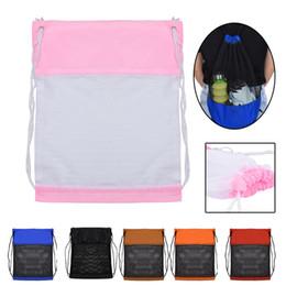 Drawstring School Bags Australia - Nylon Drawstring Bags Sport Beach Travel Outdoor Netsack knapsack drawstring backpack school shoe bag 1.25