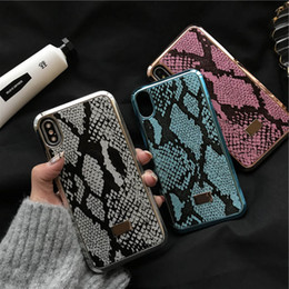 snake cases 2019 - Snake Skin Exaggerated Bold Hard Phone Case For Iphone X Xs Max XR 8 7 6 Plus Non-slip And Dirt Resistant Anti-Slip Fing