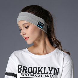 Smart Hair Australia - Bluetooth Music Turban Knitted Headband Knitted Headset Sports Hair Band for Running for All Bluetooth tablet Smart phone