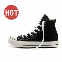 Wholesale Canvas High Shoes Australia - 2020 Drop Shipping Brand New 15 Colors All Size 35-46 High Top sports stars Low Top Classic Canvas Shoe Sneakers Men's Women's Casual Shoes