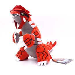 China 11 inch Pokemons Groudon Plush toys Soft stuffed cute Grab machine Doll For Children birthday Pikachu best gift lol cheap video games machines wholesale suppliers