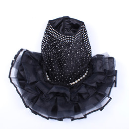 $enCountryForm.capitalKeyWord Australia - Dog Cat Wedding Dress Tutu Beads Studded Cat Puppy Skirt Dresses Outfit Wedding Party 5 Sizes 2 Colours