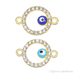 Evil Eye Connector Wholesale NZ - 50pcs   lot fashion evil eye connector hamsa hand cross shape evil eye diy jewelry accessories found handmade bracelet wholesale