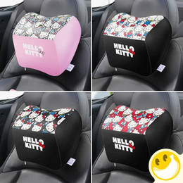 $enCountryForm.capitalKeyWord NZ - Hello Kitty Neck Rest Pillow Support Cushion PU Leather for Office Chair Car Seat and Household Chair Creative Fashion Cartoon