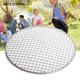 grill net Australia - ANTS STRONG durable strong round BBQ net bbq grill rack mesh stainless steel grate circular barbecue stove accessories
