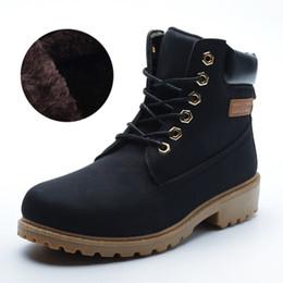 55ae07e1198 Negro Marrón Invierno Hombres de la Marca Zapatos de Piel Caliente Martin  Botas de Cuero de Gamuza Botas de Nieve Cálidas Botas de Hombre Botas de  Hombre de ...