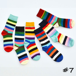 $enCountryForm.capitalKeyWord Australia - 38-44 Yard Mens Happy Socks Gradient Color Striped Plaid Socks British Style Mid Calf Cotton Sock Fashion Dots Stocking Hosiery C82003