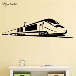 $enCountryForm.capitalKeyWord Australia - Bullet Train Wall Stickers Home Decor Removable Living Room Backgurand Home Decorationself Adhesive Wallpaper Accessories