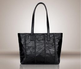 ladies big hand bags 2019 - Women Shoulder Bags Silver Gold Black Crocodile Handbag PU Leather Female Big Tote Bag Ladies Hand Bags Sac discount lad