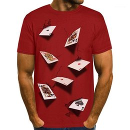 tee 3d Australia - Mens Tshirts Summer Fashion Stylish Casual Top Short Sleeved Tees 3D Poker Designer