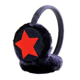 $enCountryForm.capitalKeyWord UK - MISSKY Kids Girls Winter Warm Faux Plush Cute Five Pointed Star Ear Warmer Earmuffs Christmas Gifts