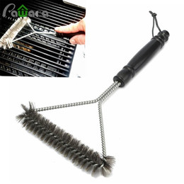 $enCountryForm.capitalKeyWord Australia - Non-stick Barbecue Grill Brush Stainless Steel Wire Bristles Cleaning Brushes With Handle Durable Cooking Bbq Tools Hot Sale C19041501
