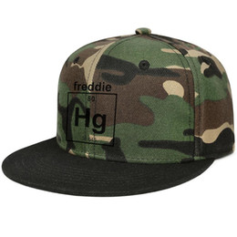 Snap Bands UK - Fitted Men Women Camo Trucker caps Mad Over Shirts Freddie Mercury Singer Band Musician Chemistry Geek Cool Designer flat bill Hip Hop Snap