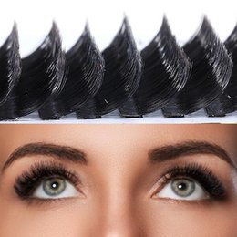 weaving eyelashes NZ - Weaving False Eyelashes Y-shaped Plastic Black Stems Simulate Eyelashes Natural For Entire Eyes Glamorous Natural
