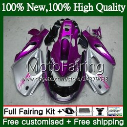 thunderace fairings UK - Thunderace For YAMAHA YZF1000R 96 97 98 99 00 01 87MF9 YZF-1000R YZF 1000R Purple silvery 1996 1997 1998 1999 2000 2001 Fairing Bodywork