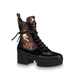 Discount boot red platforms - LAUREATE PLATFORM DESERT BOOT 1A41QD 1A43LP BLACK HEART BOOTS Overcloud Platform Desert Booties Luxury Brand Martin boot