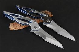 $enCountryForm.capitalKeyWord Australia - NEW FOX Titanium Bearing folding knife knives tactical survival camping knife gear 8CR13MOV blade Titanium handle Two colors