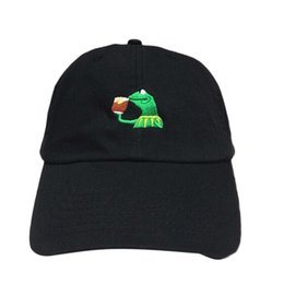 752360b466412 KERMIT NONE OF MY BUSINESS UNSTRUCTURED DAD HAT CAP FROG TEA LEBRON JAMES  NEW casquette kenye west ye bear dad cap Big Daddy hat