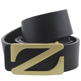 Z Buckle Leather Belt UK - Hot Sale High Quality Luxury Belts Mens Cow Genuine Leather New Designer Straps For Male Z Buckle Ceintures