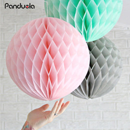 honeycomb balls decorations Australia - babyshower lampion Party Decoration Paper Lantern Honeycomb Ball 5pcs 6inch decoration anniversaire lampion wedding honeycomb