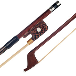 $enCountryForm.capitalKeyWord UK - 1 8 Brazilwood Double Bass Bow Parisian Eyes Round Stick White Horsetail Bass Violin Use Upright