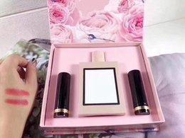 Luxury Lipstick Brands Australia - Famous Luxury Brand Makeup Set 2pcs Matte Lipstick + 100ml perfume Cosmetic Make Up Kit 070# 690# Color