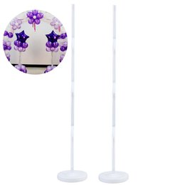$enCountryForm.capitalKeyWord Australia - vent Party Ballons Accessories 2pcs set Balloon Column Stand Kits for Wedding Party Decoration Arch Stand with Frame Base and Pole Balloo...