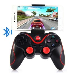 wireless gaming joystick for pc NZ - S3 Bluetooth Gamepad for Android Wireless Joystick Gaming Controller Black for Android Smartphone Android Tv Box