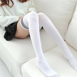 $enCountryForm.capitalKeyWord NZ - Sexy Medias Fashion Striped Knee Socks Women Cotton Thigh High Over The Knee Stockings For Ladies Girls Warm Long Stocking R03 T190628