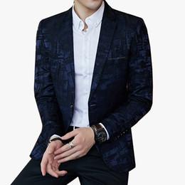 $enCountryForm.capitalKeyWord Australia - Striped Pattern Blazers Mens Slim Fit Blazer Slim Business Casual Male Stylish Spring Autumn Korean version Suit Jacket