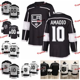 Discount kings jersey - 2019 Customize Michael Amadio Los Angeles Kings Stitched Jerseys Custom Alternate Grey Shirts #10 Michael Amadio Hockey