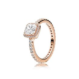 $enCountryForm.capitalKeyWord UK - Luxury 925 Sterling Silver Rings Fit Pandora Style CZ Diamond Gold Silver Rose Wedding Ring with Box Women Engagement Rings Jewelry