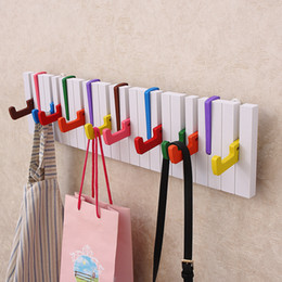 decor designs Australia - 1Pcs Decor Hook Fashion Wooden Hangers Piano Fashion Piano Design Hat Coat Clothes Wall Mount Rack Hanger Creative Househould