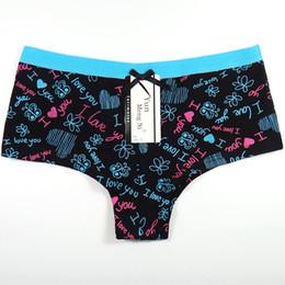 d6d1cee34 12 Pieces Lot Sexy Women Underpants Cotton Women Shorts Ladies Panties Girls  Kawaii Print Underwear Boxer Boyshorts