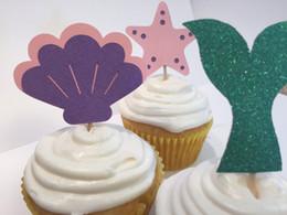 $enCountryForm.capitalKeyWord Australia - glitter Under The Sea Mermaid Cupcake Toppers Engagement Party Bachelorette birthda Wedding Bridal Shower Night toothpicks