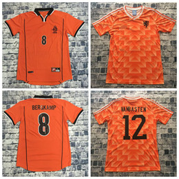 Holland Football Shirt NZ - 88 89 Netherlands Retro Soccer Jersey Van  Basten Gullit 98 99 a68a7ff2d