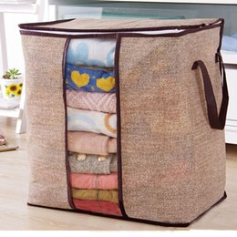 Chinese  Non-woven Portable Clothes Storage Bag Organizer Folding Closet Organizer For Pillow Quilt Blanket Bedding dropshipping manufacturers