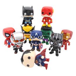 $enCountryForm.capitalKeyWord Australia - 10pcs set DC Justice League & Marvel Avengers Super Hero Characters 10cm Model Vinyl Christmas Action & Toy Figures for Children