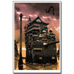 Miyazaki hayao figure online shopping - Spirited Away Miyazaki Hayao Pieces Canvas Prints Wall Art Oil Painting Home Decor Unframed Framed
