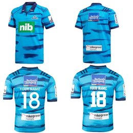 Wholesale 2018 Blues Super Rugby Home Jersey New Zealand Super Rugby Blues home rugby jerseys shirts size S M L XL XXL XL can print