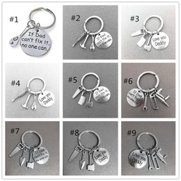 $enCountryForm.capitalKeyWord Australia - Fathers Day Sale Personalized Keychain creative gifts Hand tools key chain Hand dad can fix it