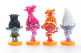 dc figures 2019 - Action Trolls Poppy 4pcs Lot PVC Action Figures Collection Toy Poppy Branch Biggie Collection Dolls for Kid Action Figur