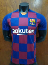 Fine men online shopping - 19 New Thailand MESSI Jersey PIQUE SúAREZ A INIESTA COUTINHO Embroidery Logo Cheap and Fine